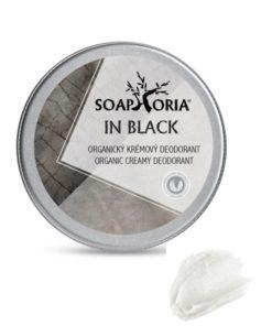 In Black pánsky prírodný deodorant, účinný antiperspirant bez hliníka - pánska prírodná kozmetika na telo - 100% organický deodorant bez parabénov. VEGAN