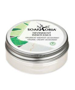 Nevinnosť prírodný krémový deodorant, účinný antiperpirant, vegánsky, bez hliníkových solí a parabénov. Deodorant bez hliníka, vegánska kozmetika