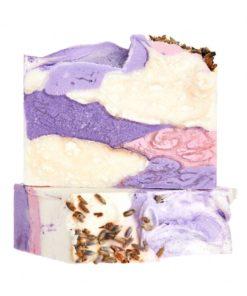 Organické mydlo Levanduľové pole - prírodné mydlo Soaphoria na telo i tvár pre celú rodinu, pôsobí blahodarne proti vyrážkam, ekzémom, lupienke a dermatitíd