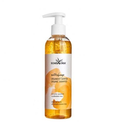 Prírodný Organický šampón NutriShamp - prírodná vlasová kozmetika na suché vlasy a poškodené vlasy s rozštiepenými končekmi s Aloe vera