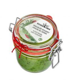 Telový Peeling Magické bylinky, najlepší peeling bez chémie. Starý názov Babičkina záhradka - 100% čisto prírodná kozmetika bez parabénov a sulfátov