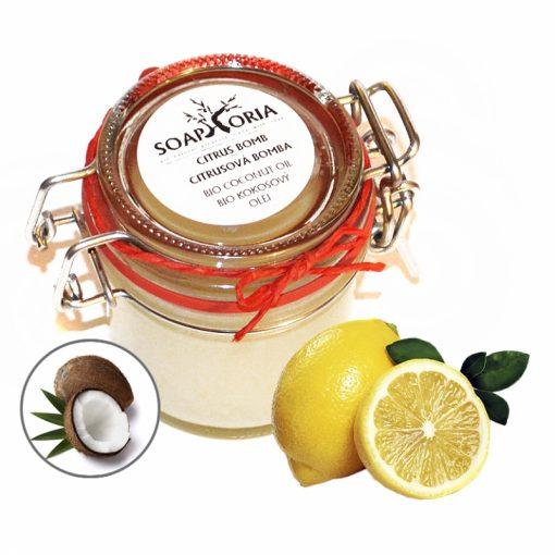 kokosový olej Citrusová bomba, prírodná kozmetika na vrásky na tvár, BIO kozmetika