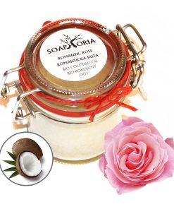 Kokosový olej Romantická ruža. 100% prírodná kozmetika na telo, prírodné oleje, BIO oleje na telo
