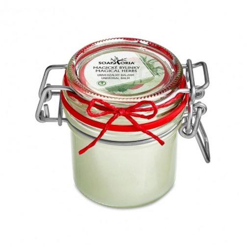Babičkin balzam univerzálny Magické bylinky, 100% prírodná kozmetika na herpesy, akné, na zapálenú pokožku s liečivými bylinkami, s včelím voskom a olivovým