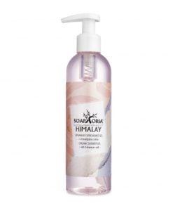 Himalay prírodný sprchový gél, prírodná kozmetika značky Soaphoria, je 100% prírodný gél s vôňou čistoty a himalájskou soľou, pôsobí pozitívne na strie