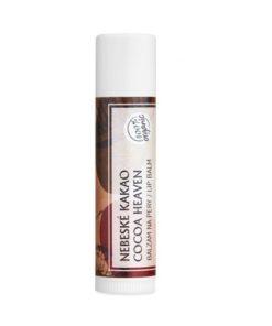 Kakao prírodný balzam na pery - čisto prírodná kozmetika na tvár pre milovníkov čokolády. Kakao obsahuje spektrum minerálov, vitamínov, antioxidantov.
