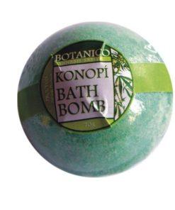 Kúpeľová guľa konope, prírodná kozmetika do kúpeľa, konopná kozmetika, s olejom a osviežujúcou vôňou na ošetrenie suchej pokožky. Prírodná kozmetika na telo