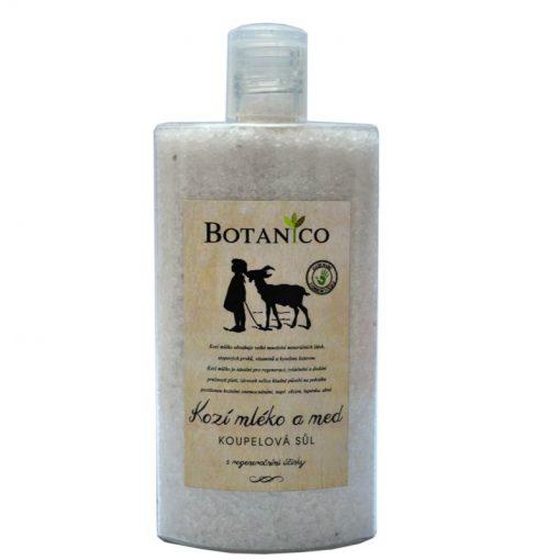 Kúpeľová soľ s kozím mliekom a medom. Uľaví telu po fyzickej aj psychickej námahe. Prírodná kozmetika na suchú, psoriatickú a ekzematickú pokožku,