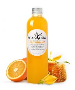 Organický šampón NutriShamp - vlasová kozmetika na suché vlasy a poškodené vlasy, rozštiepeným končekom.