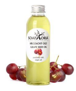 Hroznový olej z jadier - prírodná kozmetika na mastnú a aknóznu pokožku, ekzémy a podráždenia, BIO kozmetika