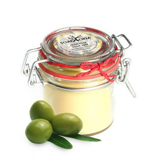 Olivový balzam univerzálny, prírodná kozmetika na atopický ekzém u detí s extra panenským olivovým olejom na suchú, citlivú a popraskanú pokožku,