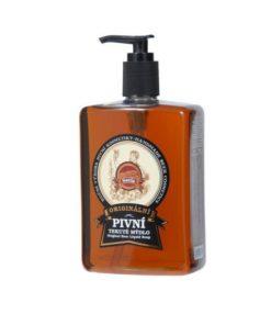 Originálne pivné tekuté mydlo. Prírodná kozmetika s obsahom piva krásne vonia chmeľom. Podporuje regeneráciu pokožky, vhodné na suchú praskajúcu pokožku