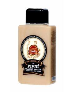 Originálny pivný vlasový balzam, prírodná kozmetika na suché vlasy s UV ochrannými vlastnosťami. Vysoký obsah piva s vitamínmi B podporuje regeneráciu