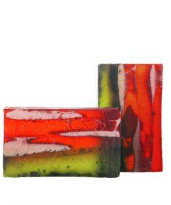 Prírodné mydlo Ovocný sad, ručne vyrobené mydlo z rastlinného glycerínu, prírodná kozmetika na telo a tvár pre celú rodinu.