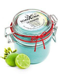 Peeling Oceanizer telový s morskou soľou - prírodná kozmetika na strie a proti celulitíde - spevnenie pokožky