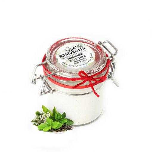Telové suflé Nevinnosť - prírodná kozmetika na tvár a telo s ľahkou vôňou kvetín a zeleného čaju, BIO kozmetika