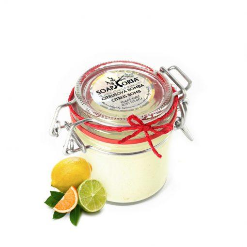Telové suflé Citrusová bomba - prírodná kozmetika na telo bez chémie. Našľahané telové maslo. 100% prírodná kozmetika bez chémie, na suchú pokožku