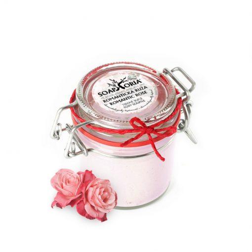 Telové suflé Romantická ruža, prírodná kozmetika s Damašskou ružou na zrelú pleť a suchú pokožku na tvár a telo. Bez živočíšnych tukov, chemických prísad,