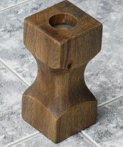 Svietnik masívny dub hranatý. Originálne bytové doplnky z masívneho dreva, darčeky pre ženy, darček pre muža