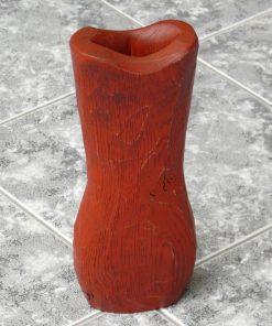 Váza dub masív červená. Originálne bytové doplnky, darčeky pre ženy, darček pre muža