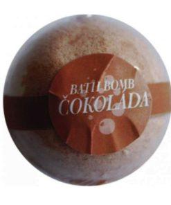 Čokoládová guľa do kúpeľa. Šumivá kúpeľová guľa ponúka dokonalú starostlivosť a uvoľnenie celému telu. Prírodná kozmetika na telo, do kúpeľa, domáci wellnes