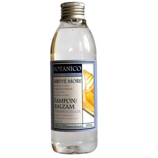 Mŕtve more šampón balzam. Obsiahnutý balzam s kondicionérom podporuje výživu vlasového korienka. Prírodná kozmetika na vlasy, s minerálmi z Mrtveho mora