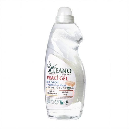 EKO Prací gél s mydlovým práškom - koncentrovaný, účinný proti odolným škvrnám pri praní pri nízkych teplotách, nevyvoláva alergické reakcie, EKO drogéria