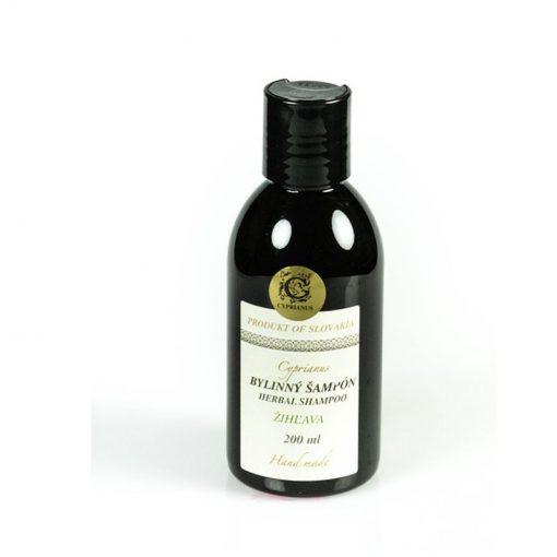 Prírodný šampón žihľavový s panthenolom bez parabenov a farbív, pre bohatý objem vlasov bez lupín. Obsahuje žihľavový extrakt. Prírodná kozmetika na vlasy