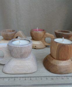 Mocca svietniky dubové olej. Darčeky pre ženy, darčeky pre muža