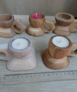 Svietniky z masívneho dubového dreva s povrchovou úpravou olej