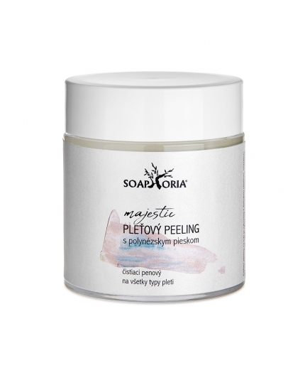 Peeling s polynézskym pieskom na tvár, 100% čisto prírodná kozmetika na pleť pomáha zatočí s upchatými pórmi a zjednotí odtieň pleti