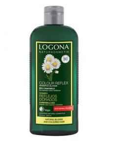 BIO šampón Harmanček svetlé vlasy. Šampón udržuje prirodzenú farbu vlasov i farbu na farbených vlasoch. Bio kozmetika na vlasy, bez sulfátov, bez chémie