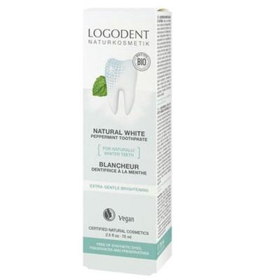 BIO zubná pasta Natural White, prírodná bieliaca zubná pasta bez sulfátu a fluoridu. Jemne čistí zuby s prírodným bieliacim účinkom, odstraňuje povlak
