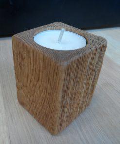 Svietnik prírodný dub olej kefovaný. Originálne darčeky pre ženy, darčeky pre mužov