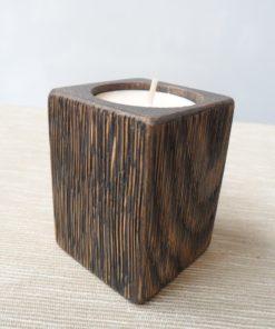 Svietnik dub tmavý olej kefovaný. Darčeky pre ženy, darček pre muža