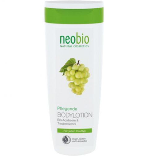 Neobio hydratačné telové mlieko, BIO prírodné telové mlieko bez chémie. Obsahuje bambucké maslo, aloe vera, sójový olej a acai. Bez silikónov a parabénov!