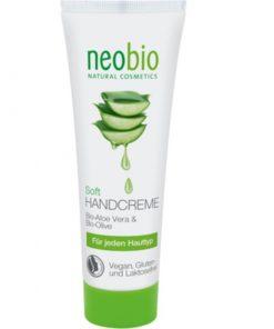Neobio krém na ruky SOFT, lacná prírodná kozmetika na ruky, na citlivú a suchú pokožku, aj pre deti, s BIO olivovým olejom, aloe vera a bambuckým maslom