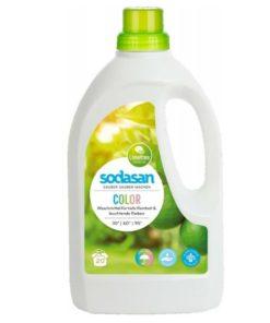 Eko prací gel COLOR - tekutý prací prostriedok SODASAN na farebné prádlo s BIO esenciálnymi olejmi. Na pranie od 30°C - 90°C. Nízka spotreba - vysoký účinok