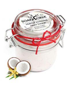 Mliečne potešenie prírodná telová mana - prírodná kozmetika na suchú pokožku s mliečnymi proteínmi a pravou vanilkou, BIO kozmetika
