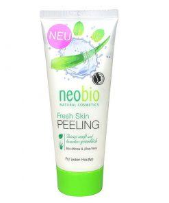 Neobio pleťový peeling Fresh, pleťová kozmetika, prírodný peeling s Aloe vera, svieži vďaka BIO mäte. Vegánska kozmetika, bez gluténov, bez laktozy