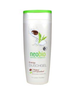 Neobio sprchový gél Energy - prírodná kozmetika na telo s kofeínom a zeleným čajom, lacná BIO kozmetika