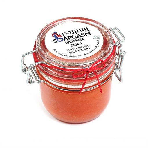 Peeling Žena - organický soľný telový peeling - prírodná kozmetika na telo s afrodiziakálnou vôňou jasmínu, pravej vanilky a kosatcov, BIO kozmetika