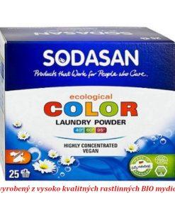 Color Compact prací prášok na farebné prádlo na citlivú pokožku bez konzervantov, vyrobený z BIO mydiel, eko drogéria