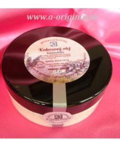 Kokosový olej Levanduľa - organická a prírodná kozmetika na telo a tvár – prírodné telové oleje pre celú rodinu s obsahom levanduľovej silice