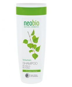 Neobio šampón Volume kofeín pre nepoddajné a jemné vlasy, pre zväčšenie objemu. Po použití vlasy získavajú plnosť, silu a vitalitu od korienkov. BIO šampón