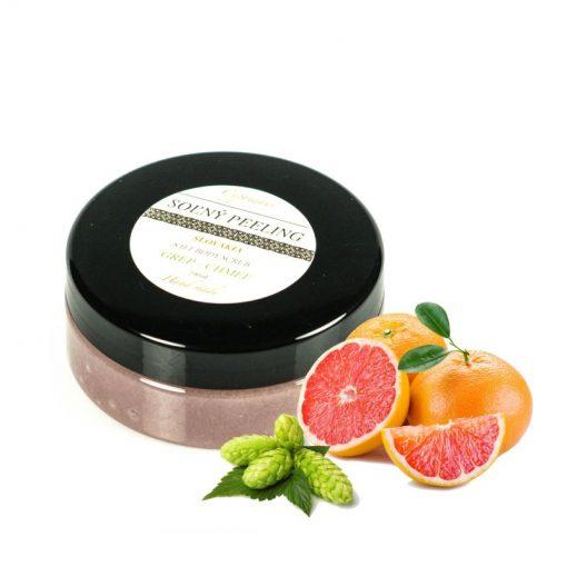 Soľný peeling Grep Chmeľ - prírodná kozmetika na telo, svojimi zvláčňujúcimi a hydratačnými účinkami, čo ocení najmä namáhaná a vysušená pokožka.