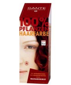 Prášková farba na vlasy mahagónová SANTE- prírodná farba na vlasy, ktorá vlasy neničí, ale vyživuje, farbí a chráni. Farba vydrží na vlasoch 4-6 týždňov, podľa toho, ako často si vlasy umývate. Prášková farba na vlasy mahagónová je vhodná pre blond až hnedé vlasy.