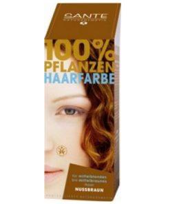 Prášková farba na vlasy orieškovohnedá SANTE- prírodná farba na vlasy, ktorá vlasy neničí, ale vyživuje, farbí a chráni. Farba vydrží na vlasoch 4-6 týždňov, podľa toho, ako často si vlasy umývate. Prášková farba na vlasy je vhodná pre stredný blond až hnedé vlasy.