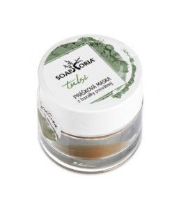Tulsi maska čistič mastná pleť. Prášok z Tulsi má výborné čistiace a protizápalové účinky. Excelentne pôsobí na zmiešanú, mastnú a problematickú pleť s akné