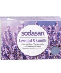 BIO pleťové mydlo Cream Levanduľa na tvár a telo s obsahom bambuckého masla, bez sulfátov a farbív a konzervačných látok,